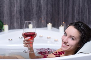 Wine in the bath